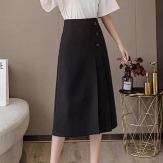 Chân váy công sở dài phối cúc_MJK001