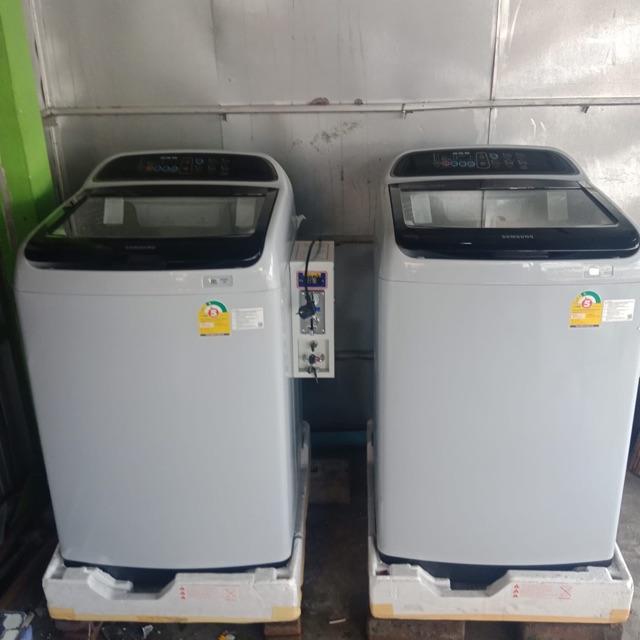 เครื่องซักผ้าซัมซุม11โล พร้อมเครื่องหยอดเหรียญมือ1 แกะกล่อง