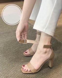 Sandal gót dẹt quai dán cực chất