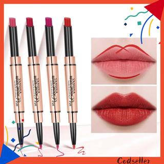 CODseller 1.7g Lip Liner Pen Double Head Nourishing Lips Matte Texture Waterproof Multifunctional Lip Stick Pen for Female