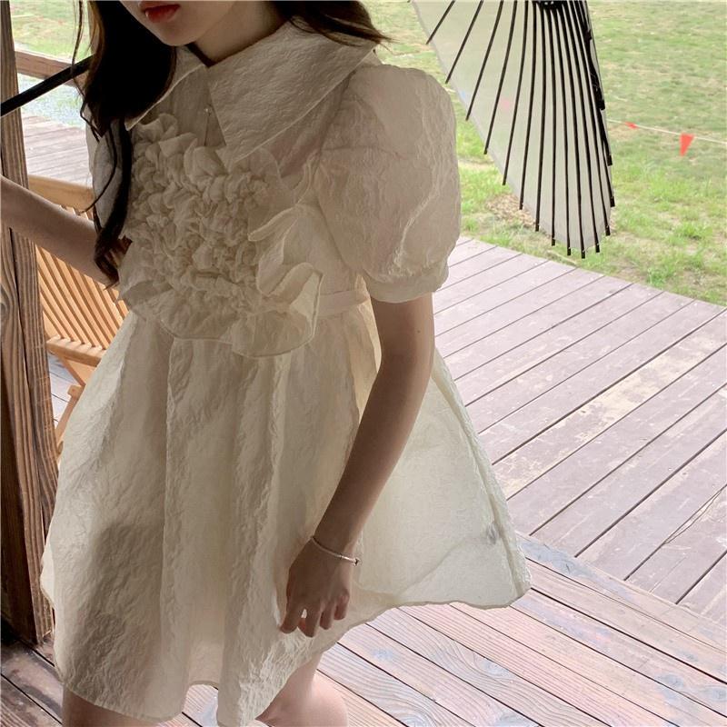 Mặc gì đẹp: Bồng bềnh với Đầm tay phồng cổ búp bê eo cao phối dây thắt màu sắc ngọt ngào xinh xắn 43902