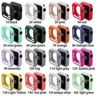 Nắp Vỏ Bảo Vệ Bằng Silicon Thích hợp cho Dòng Apple Watch 5/4/3/2/1 38mm 40mm 42mm 44mm (16 màu)