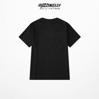 Áo thun tay lỡ NELLY cotton 4 chiều dáng unisex đen trơn mã N0049 thumbnail