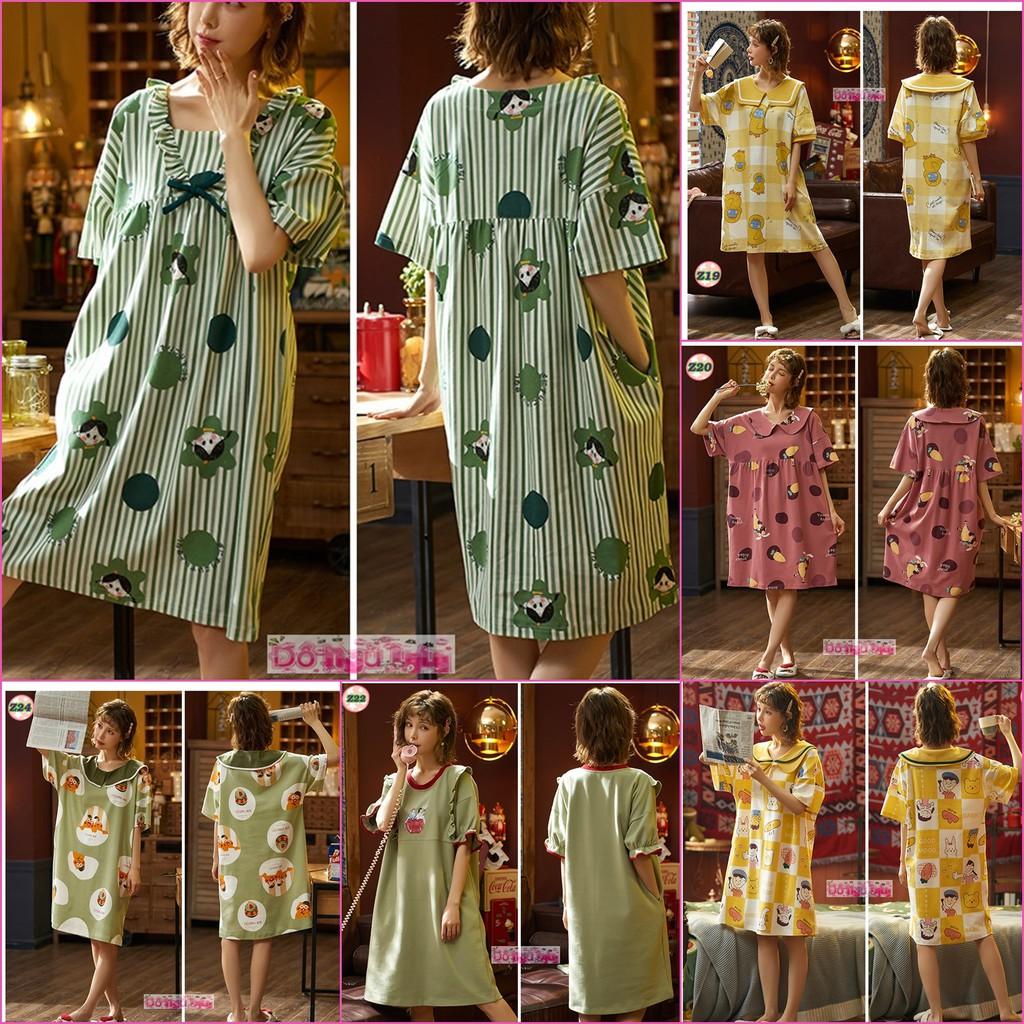 [Mã WASEPRN hoàn 20% xu đơn 99k] Váy Ngủ Mùa Hè thun cotton Z2
