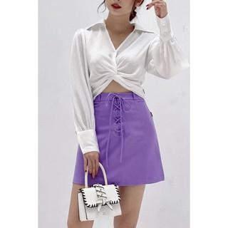 Chân váy A vải tuýt mềm - 20Again thumbnail