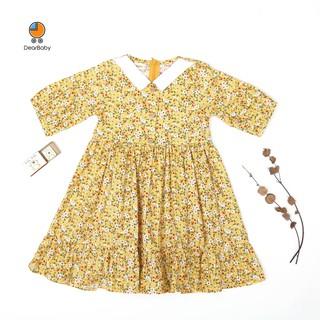 [Mã FABR449 giảm 15% đơn 99K] Đầm Trẻ Em Dáng Xòe Tay Lửng DearBaby D-03 thumbnail