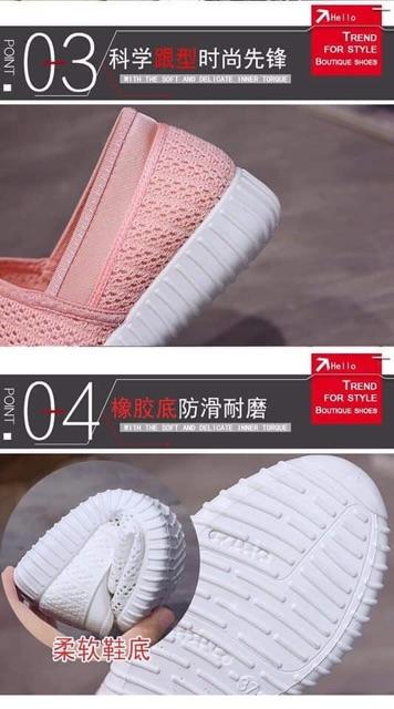 Giày lười vải lưới đi thoáng êm chân