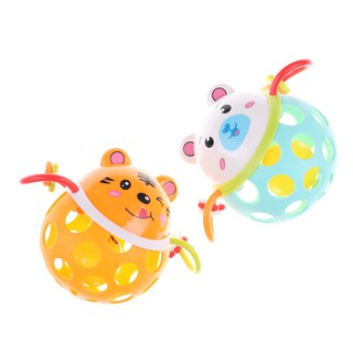 SIY❤ 1PC Baby Kids Animals Handbell Rattles Children Shaking Toy Random C