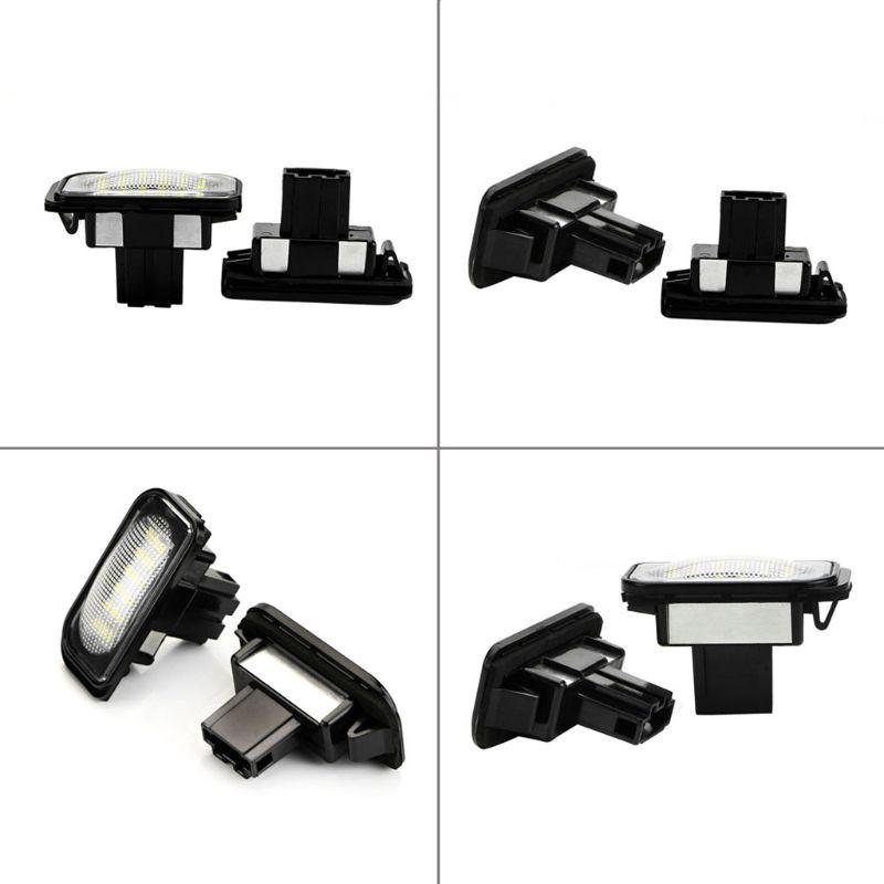 2pcs White 18 LED License Plate Lights Error Free