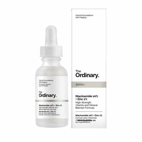 The Ordinary - Tinh chất giảm mụn thâm The Ordinary Niacinamide 10% + Zinc 1% - 30ml - Bebeau [Chính Hãng]