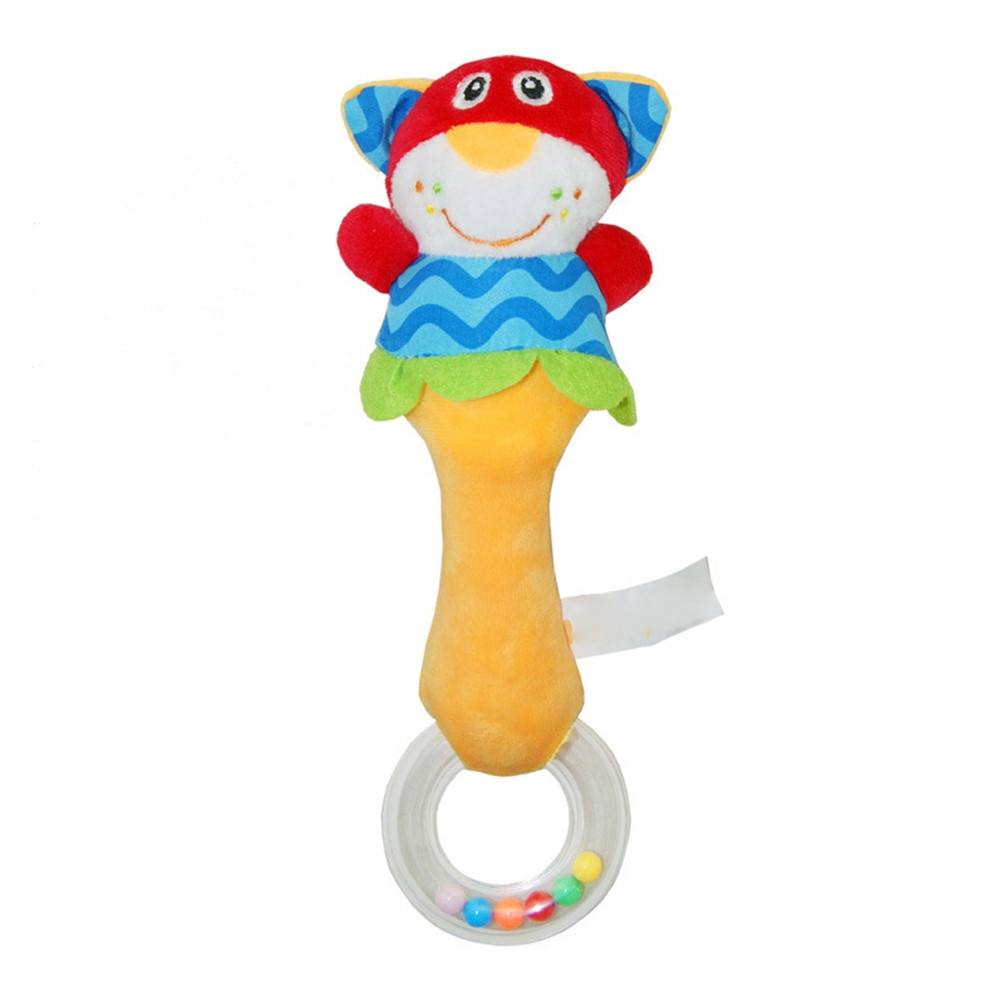 【COD】😺Baby Handbells Developmental Toys Rattles Plush Animal Doll Comfort Toy
