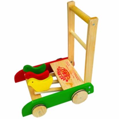 Xe tập đi gà gỗ MADE IN VIỆT NAM giúp bé yêu tập đi an toàn và vui nhộn