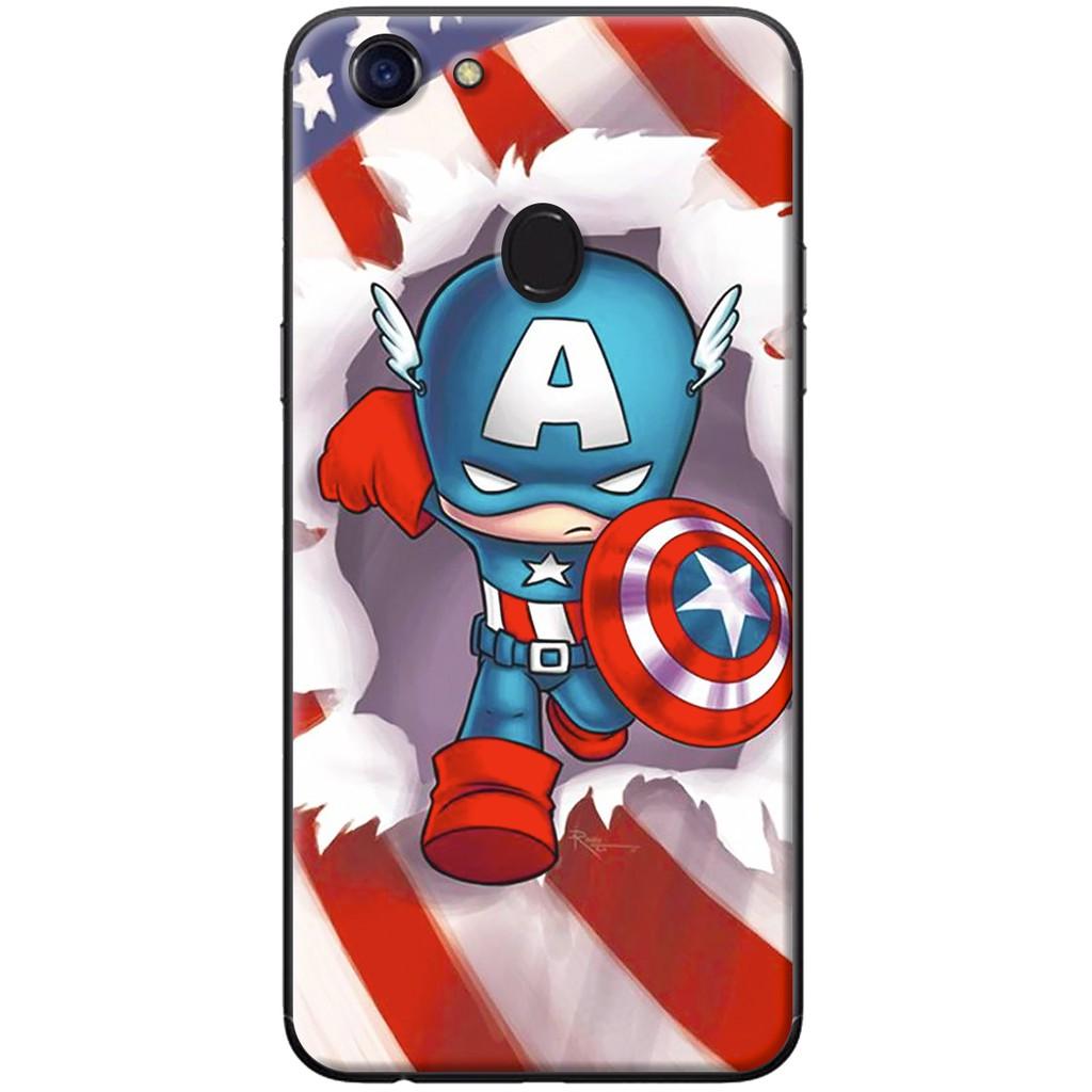 Ốp lưng dẻo OPPO F5 Captain America chibi