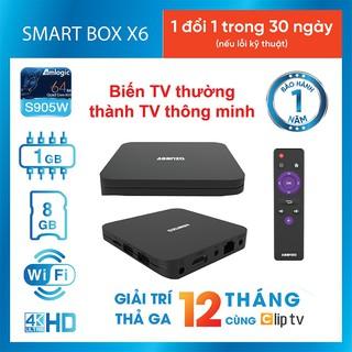 Android smart Tivi Box 4K Asanzo X6 Hàng Chính hãng