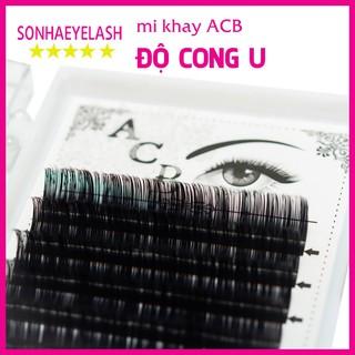 Mi khay ACB độ cong U, chất mi silk Hàn, mêm dễ bắt keo, dùng để nối volume, classic