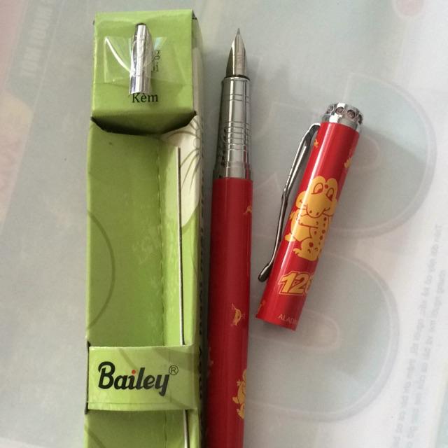 Bút máy aladin (bailey) đỏ 01