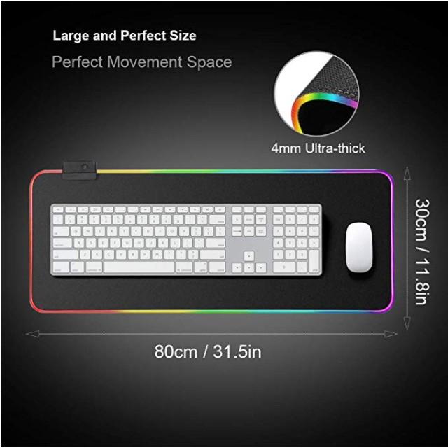 Lót Chuột Pad RGB Loại Lớn 80x30cmx4mm