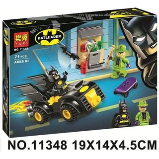 Đồ chơi lắp ráp lego minifigures nhân vật batman mô hình xe và tên hề joker Lari 11348.