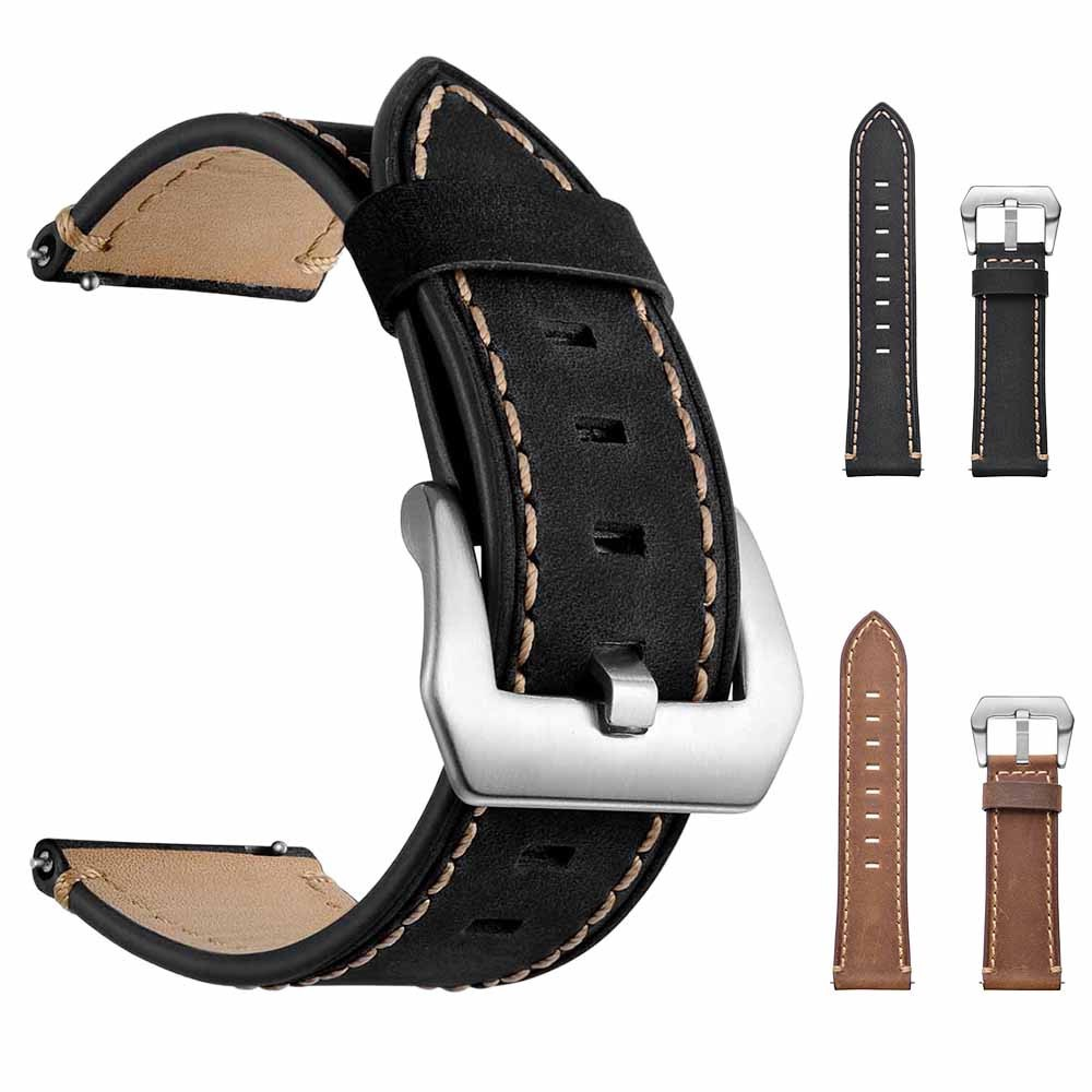 22mm Leather Replacement Watch Wrist Strap For Samsung Galaxy watch 46mm