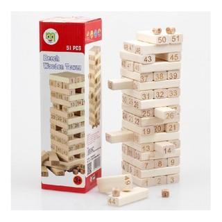 Rút gỗ số 51pcs gỗ bạch dương – T328