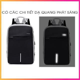 Balo laptop 15.6 inch đi học thời trang, balo mã khóa chống nước có phản quang