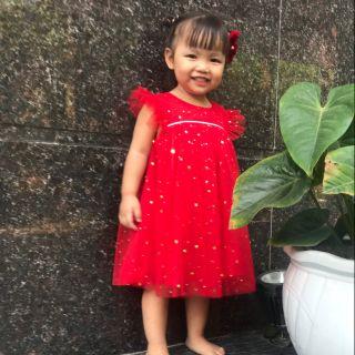 Combo váy sao đỏ lấp lanh-mã 2609-1