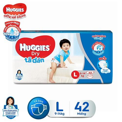 Tã dán HUGGIES DRY JUMBO size L gói 42 miếng - 3360071 , 1337795848 , 322_1337795848 , 210000 , Ta-dan-HUGGIES-DRY-JUMBO-size-L-goi-42-mieng-322_1337795848 , shopee.vn , Tã dán HUGGIES DRY JUMBO size L gói 42 miếng