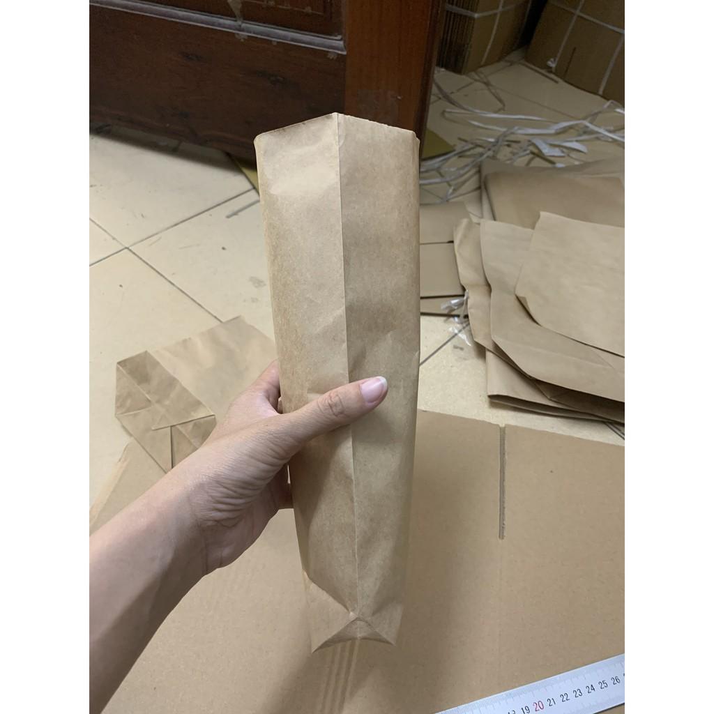 100 Túi Giấy Đựng Bánh Mì 12.5 x 26cm