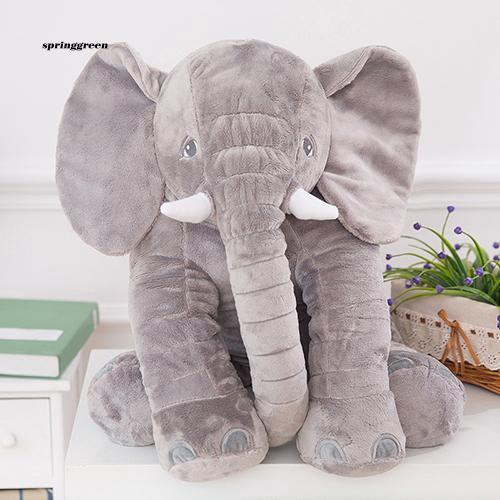 SPR♥Baby Kids Elephant Animal Stuffed Plush Bed Sleep Pillow Cushion Toy Child Gift