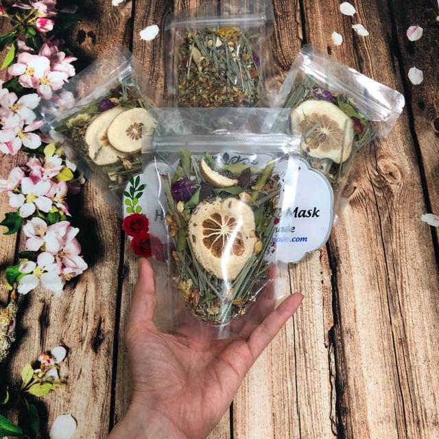 [Gói Mini Dùng Thử] Xông Mặt Thảo Dược Handmade - Giảm mụn, Se Lcl, Thư giãn