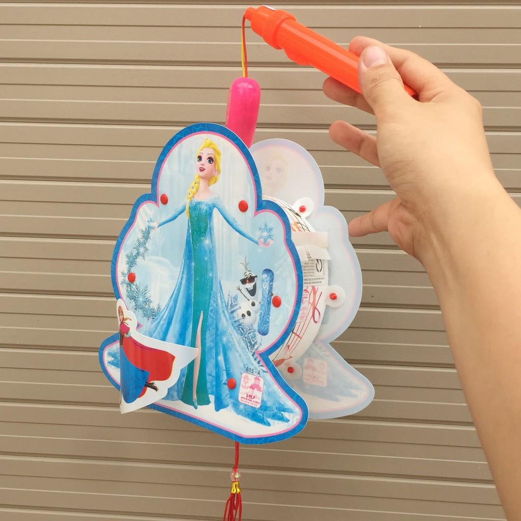 Đèn lồng hai mặt hình công chúa Elsa