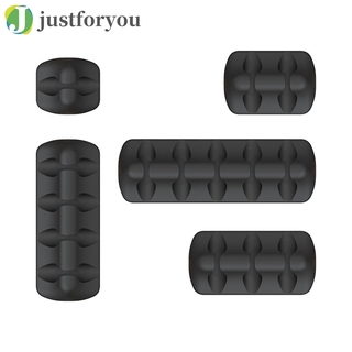 Justforyou Cable Holder Clips Silicone Power Cord Organizer Cable Management 5 Pack
