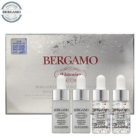 [Freeship + Chính hãng] Set 4 Serum dưỡng trắng hồng, mịn da Bergamo Snow White & Vita-White Whiteni - 3549269 , 955693623 , 322_955693623 , 378000 , Freeship-Chinh-hang-Set-4-Serum-duong-trang-hong-min-da-Bergamo-Snow-White-Vita-White-Whiteni-322_955693623 , shopee.vn , [Freeship + Chính hãng] Set 4 Serum dưỡng trắng hồng, mịn da Bergamo Snow White &