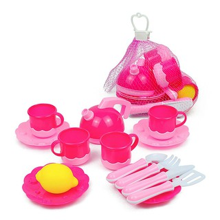 Inbeajy AG013-1 Toy Kictchen Pretend Play Food Cook for Fun 14 PC
