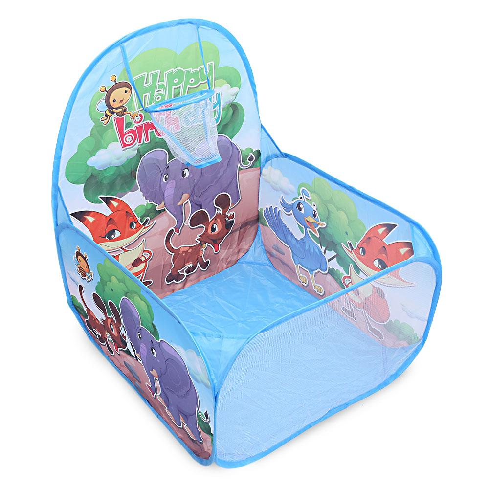 Ocean Ball Pit with Basket Kids Foldable Pool Tent Indoor Outdoor Sports Toy