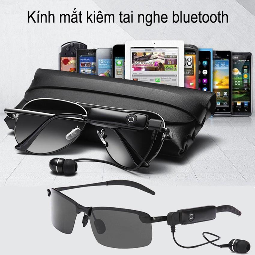 Kính Mắt Kiêm Tai Nghe Bluetooth - Chất Liệu Polarized Chống Tia Cực Tím, Gọng Kim Loại, Tai Nghe Bluetooth...