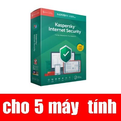 Phần mềm diệt virut Kaspersky Internet security (5PC/12T) Giá chỉ 690.000₫