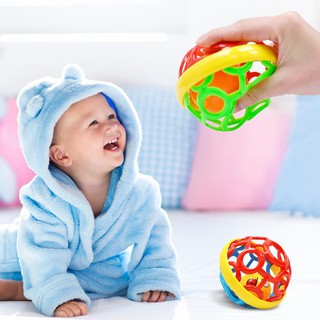 0-1 Years Old Baby Soft Rubber Fitness Ball Toy Hand Catching Ball Toys