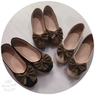 Giày búp bê nữ mũi tròn giày bệt dạ nơ thời trang Mẫu Mới G10 [ẢNH THẬT +CLIP]
