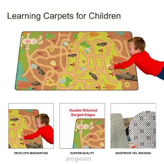 Cartoon Pattern Crawling Decoration Home Non Slip Thick Educational Toys Baby Play Mat