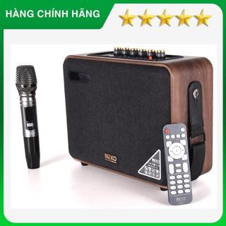 Neko NK01, loa di động cầm tay, xách tay tích hợp bluetooth, tặng kèm mic ko dây cao cấp, loa karaoke du lịch, dã ngoại thumbnail