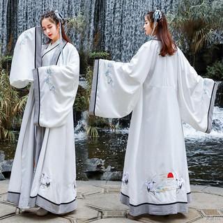 Trang phục cổ đại Phong cách võ thuật Hanfu nam và nữ yếu tố Trung Quốc cải tiến hàng ngày lớp tốt nghiệp đồng áo thumbnail