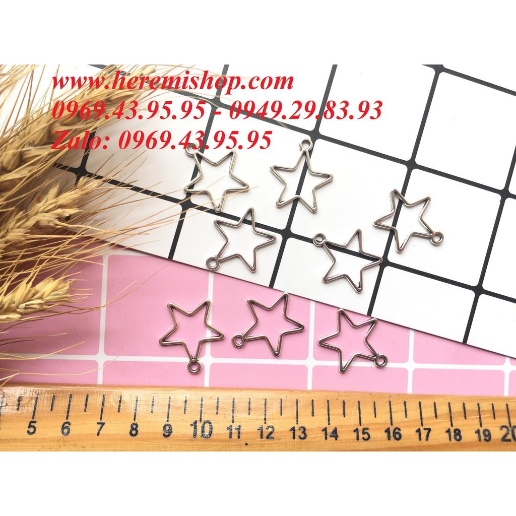 Mặt hình sao có lỗ xỏ (túi 10 mặt)/đồ làm khuyên tai/vòng tay/mặt hình học - 2805680 , 1064457500 , 322_1064457500 , 12000 , Mat-hinh-sao-co-lo-xo-tui-10-mat-do-lam-khuyen-tai-vong-tay-mat-hinh-hoc-322_1064457500 , shopee.vn , Mặt hình sao có lỗ xỏ (túi 10 mặt)/đồ làm khuyên tai/vòng tay/mặt hình học
