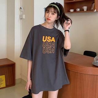 Áo phông freesize form rộng chữ USA Friday thumbnail