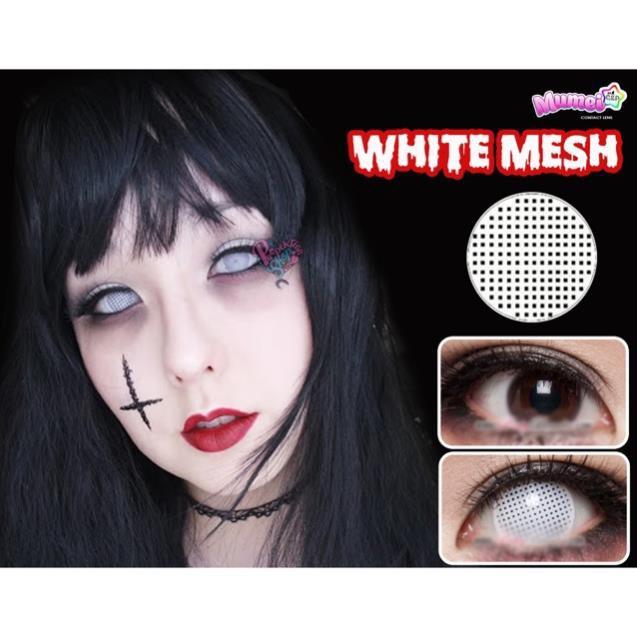 Áp tròng cosplay white mesh trắng 😍