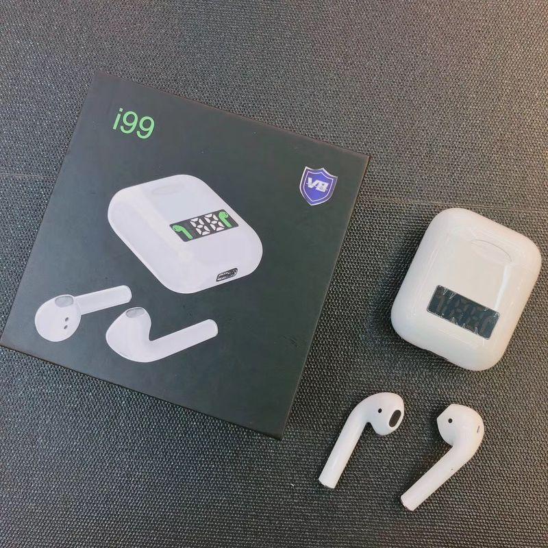 Tai Nghe Bluetooth I99 True Wireless 5.0 Hỗ Trợ Sạc Không Dây Màn Hình Led Kỹ Thuật Số