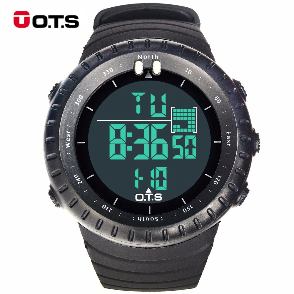 O.T.S 7005 Men Waterproof Sports Watch Outdoor Digital Wristwatch With Backlight