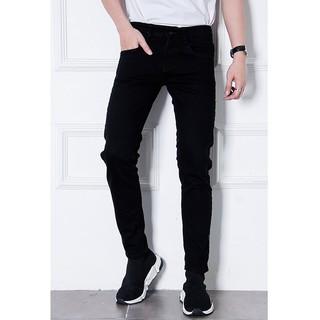 Quần Jeans Đen Chất Co Giãn Dáng Ôm