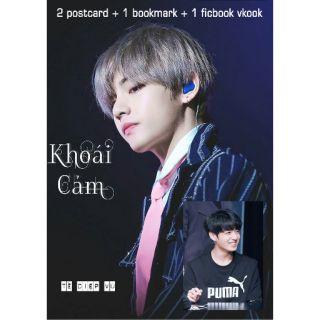 Combo 2 postcard và 1 bookmark và ficbook Vkook TỀ DIỆP VŨ