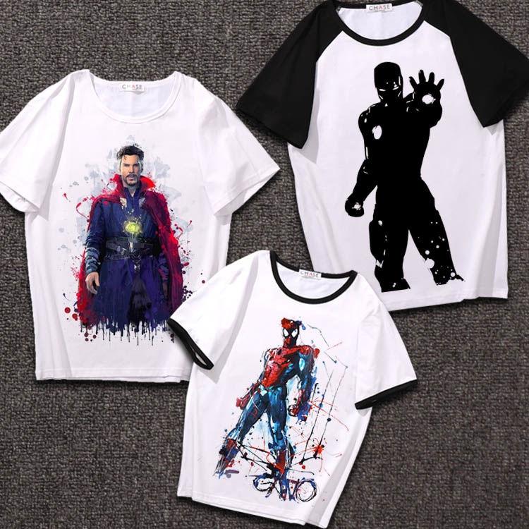 Áo thun nam ngắn tay in hình biểu tượng siêu anh hùng Marvel
